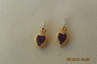 AmethystPearShaped24KGPHeartEarrings1487436610